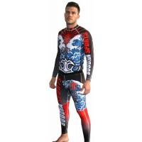Ensemble T-shirt + pantalon MMA Lycra Tsunami