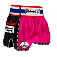Muay Thai Shorts Buddha Retro Pink