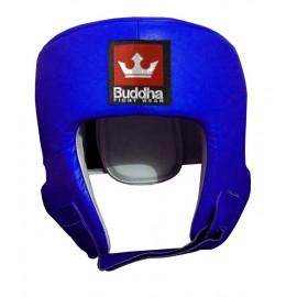 Casque de Compétition Buddha Bleu en Cuir