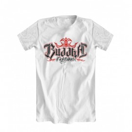 T-Shirt Buddha Training Blanc