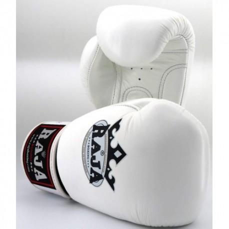 Gants de Boxe Raja Boxing Colors Blancs en cuir