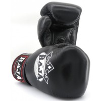 Gants de Boxe Raja Boxing Colors Noirs en cuir