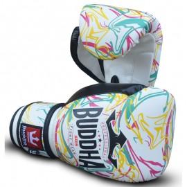 Gants de Boxe Buddha enfants Electro Blancs