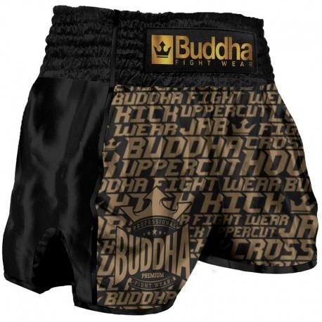 Short de Muay Thaï Buddha Rétro Golden