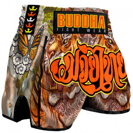 Short de Muay Thaï Buddha Rétro Tiger