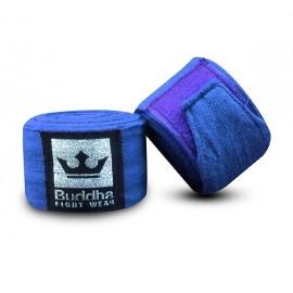 Bandes Buddha Coton Semi-Elastiques 4,5m Bleues