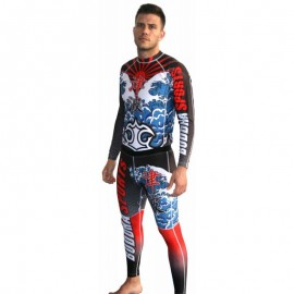Ensemble T-shirt + pantalon Buddha MMA Lycra Tsunami