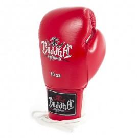 Gants de Boxe de compétition en cuir Buddha Deluxe Rouges (à lacets)